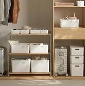 收納箱 雜物收納箱化妝品收納盒子內衣物帶蓋零食置物盒廚房整理儲物盒【快速出貨八折鉅惠】