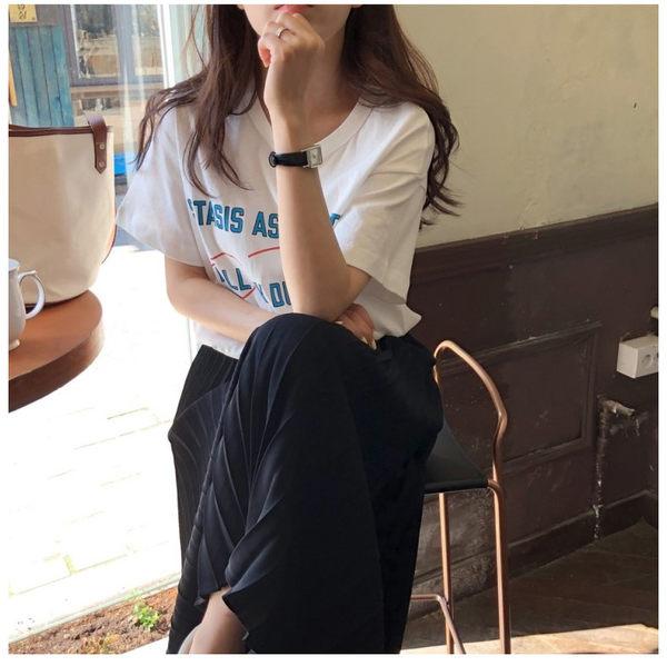 長裙 腰部鬆緊素面百摺長裙 艾爾莎【TGK6384】