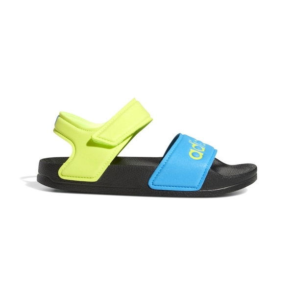 adidas童鞋 男童涼鞋 ADILETTE 運動涼鞋 防水涼鞋 輕量運動涼鞋 T9342#藍黃◆OSOME奧森鞋業