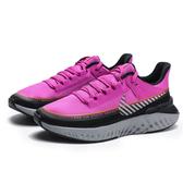 NIKE WMNS LEGEND REACT 2 SHIELD 桃紅 黑 銀 運動 休閒鞋 女 (布魯克林) BQ3383-600