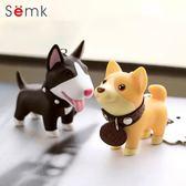 鑰匙扣 semk小狗鑰匙扣狗掛件男女韓國可愛柴犬汽車情侶鑰匙鍊書包掛飾   霓裳細軟