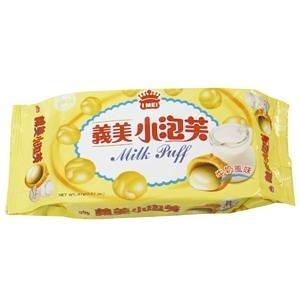 義美小泡芙-牛奶口味增量包(65g*3包/組)【合迷雅好物超級商城】