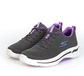 SKECHERS系列-GO WALK ARCH FIT 女款灰紫色運動慢跑鞋-NO.124403GYLV