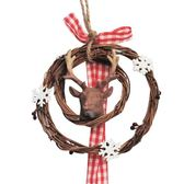 聖誕狂歡 christmas圣誕節樹脂鹿藤圈掛件裝飾品禮品吊件「歐洲站」