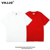 日系卡通 新款純色短袖t恤韓版學生裝風寬松大碼嘻哈t恤ins潮