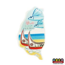 【收藏天地】台灣紀念品*米亞島型冰箱貼-蘭嶼 ∕  磁鐵  彩繪 觀光 禮品 辦公小物 生活用品
