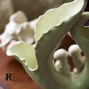 簡歐式家居陶瓷裝飾擺件工藝品 情侶對吻娃娃/七夕情人節生日禮物
