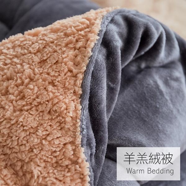 棉被 / 暖暖被【羊羔絨暖暖被-兩色可選】法蘭絨超細纖維  冬季保暖必備  戀家小舖ADY200