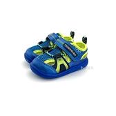 小童 日本 MOONSTAR 月星 CARROT 透氣 魔鬼氈 運動機能鞋 涼鞋《7+1童鞋》C408 藍色