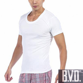 BVD 舒適型男純棉U領短袖衫3件組