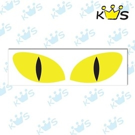 【收藏天地】防水防曬*安全帽 汽機車 萬用貼-反光貓眼 (小)