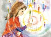 【拼圖總動員 PUZZLE STORY】賣火柴的小女孩(作者:岩崎知弘) 日本進口拼圖/AppleOne/繪畫/500P
