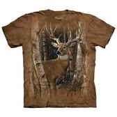 【摩達客】(預購)美國進口The Mountain 樺木與鹿 純棉環保短袖T恤(10415045063)