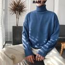 男上衣   新款冬季高領毛衣男士套頭針織衫韓版寬鬆毛線衣潮個性打底衫   韓流時裳