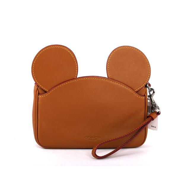 【COACH】MICKEY皮革手拿包(有把手)(焦糖色) F59529 QBSD