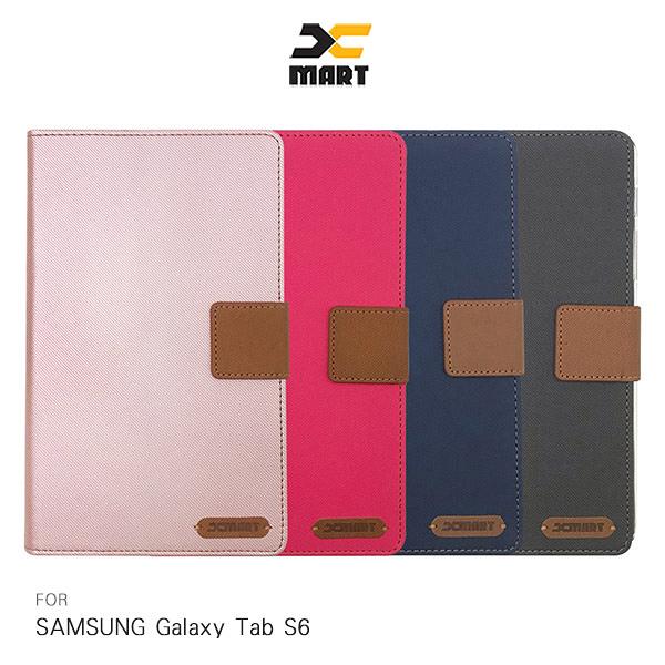 XMART SAMSUNG Galaxy Tab S6 斜紋休閒皮套 磁扣 側翻 保護套 平板保護套