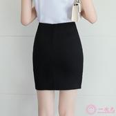 正裝裙西裝裙女裝一步裙工作裙職業短裙包裙子黑色半身裙大尺碼春夏