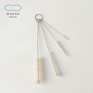 【MARNA】日本進口瓶口專用洗刷組(4入)