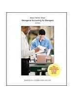 二手書博民逛書店 《Managerial Accounting for Managers (第三版)》 R2Y ISBN:9781259060731