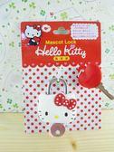 【震撼精品百貨】Hello Kitty 凱蒂貓~鎖頭(附鑰匙)-造型大頭造型-白紅