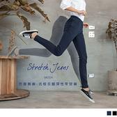 《BA4451-》芭蕾舞褲-高含棉名模長腿立體褶線彈性窄管褲 OB嚴選