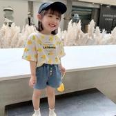 女童短袖t恤夏裝新款兒童韓版洋氣檸檬體恤小寶寶純棉上衣潮 快速出貨