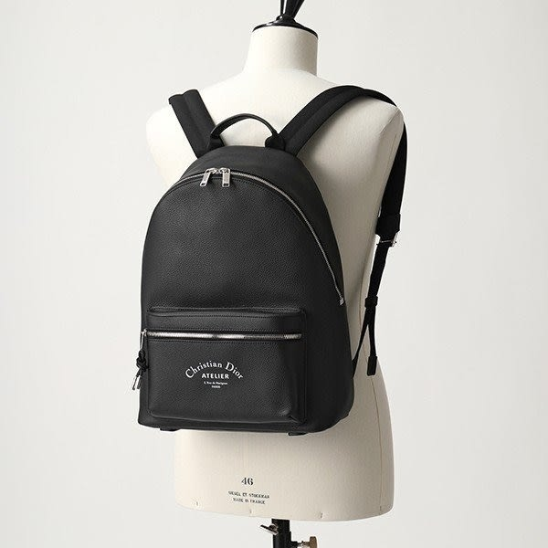 ■專櫃62折■2019新品■ Dior Homme 小牛皮 Logo 後背包