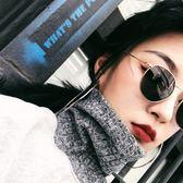 原宿風墨鏡女歐美復古街拍金絲細邊太陽眼鏡【全館免運八五折】