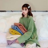 2019秋冬新款韓版寬鬆慵懶風套頭長袖上衣糖果色外穿毛衣女學生 嬌糖小屋