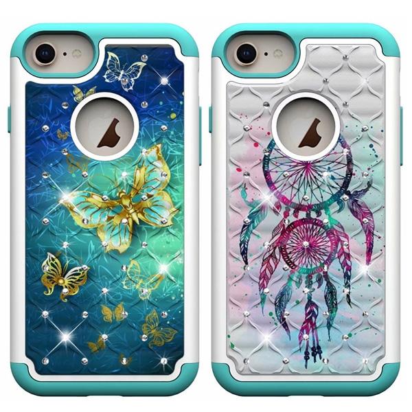 蘋果 iPhoneX iPhone8 Plus iPhone7 Plus iPhone6s Plus 二合一彩繪殼 手機殼 防摔 全包邊 保護殼