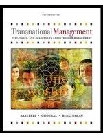 二手書博民逛書店《Transnational Management: Text,