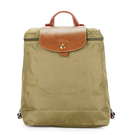 LONGCHAMP經典尼龍摺疊後背包(橄欖綠色)480175-A23