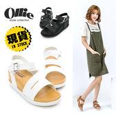 ~ ~楔型鞋 訂製款韓國同步正韓製顯瘦百搭 寬帶春夏鞋厚底涼鞋~F720362 ~Olli