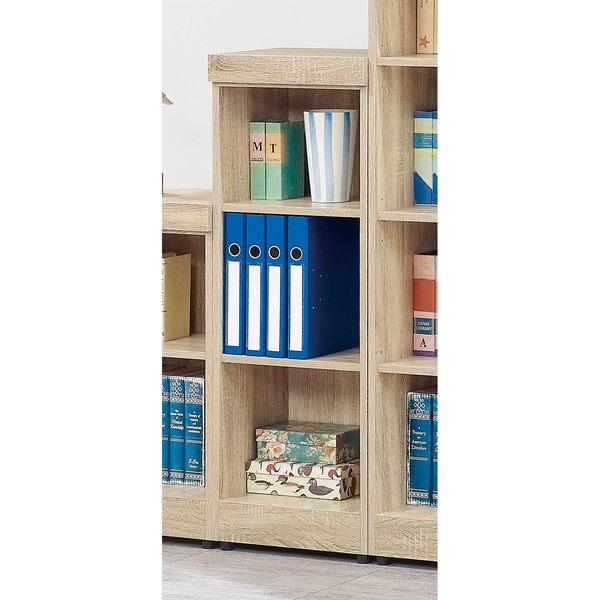 【森可家居】法克橡木三格櫃 7SB226-2 開放矮書櫃 收納 木紋質感  無印北歐風 MIT台灣製造
