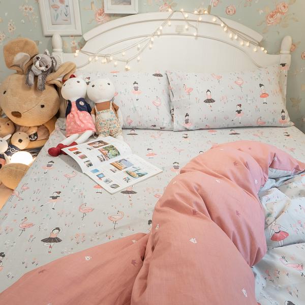 少女漫畫 S3單人床包與兩用被三件組 100%精梳棉 台灣製 棉床本舖