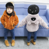 女童冬季外套女寶寶冬裝新款韓版夾克1-3歲嬰兒加絨女孩毛毛衣潮 CY潮流站