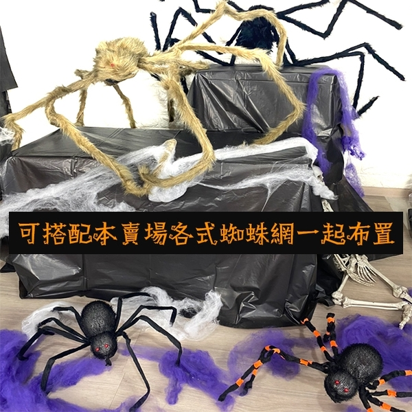 萬聖節 發光蜘蛛(黑殼/橘節) 假蜘蛛 大蜘蛛 絨毛蜘蛛 黑蜘蛛 蜘蛛人 鬼屋布置 鬼月裝飾【塔克】