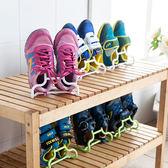 ✭米菈生活館✭【Q62】創意二合一可立兒童鞋架 晾曬 懸掛 可掛 衣架 掛架 多用 兩入裝