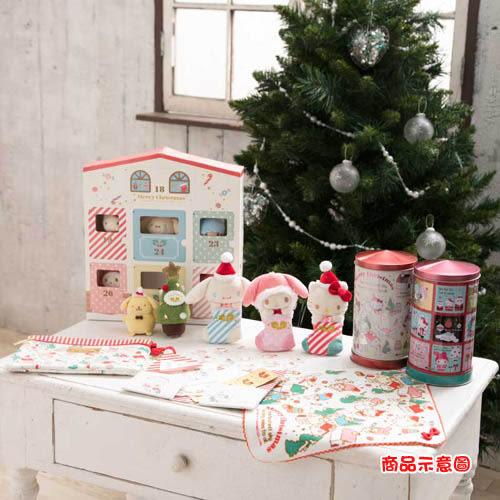 Sanrio SANRIO明星聖誕小鎮系列聖誕襪造型玩偶吊鍊(KITTY)★funbox生活用品★_252654