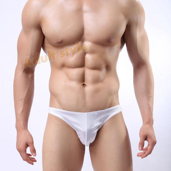 男性內褲 低腰 三角褲 情趣用品 亮色自我(白色)性感個性三角褲-XL號『滿千88折』