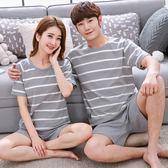 情侶睡衣夏正韓可愛卡通男士棉質短袖短褲少女學生家居服套裝 月光節85折