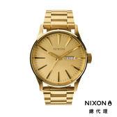NIXON 手錶 原廠總代理 A356-502 SENTRY SS 金色 潮流時尚鋼錶帶 男女  生日 情人節禮物