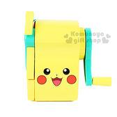 〔小禮堂〕神奇寶貝Pokémon  削筆機《黃綠.皮卡丘.大臉》 8802035-12117