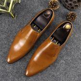 男士真皮套腳皮鞋商務皮鞋