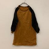 韓版顯瘦修身內刷毛長版上衣(XL號/121-6036)