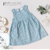 純棉 碎花棉麻無袖小洋裝 鄉村風 夏季 哎北比童裝