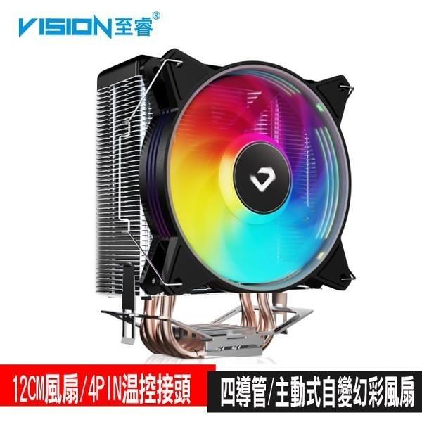 【南紡購物中心】VISION至睿 獵鷹K4S CPU風扇/溫控/12CM