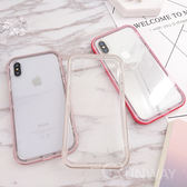 Iphone XS max XR X 全包邊軟殼 金屬邊框 透明厚TPU 防摔 二合一 I8 I7 plus 手機殼 蘋果