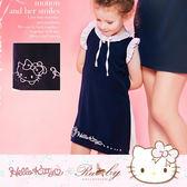 【限時49折出清】洋裝 Hello Kitty x Ruby 聯名款-荷葉領雪紡假兩件短袖洋裝(童)-Ruby s 露比午茶