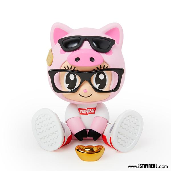 STAYREAL 噗~豬豬鼠小小公仔 - 粉紅